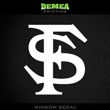 "Florida State Seminoles - NCAA - White Vinyl Sticker Decal 5"""