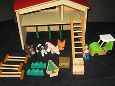 Waldorf Montessori Wooden Maxim Enterprizes Farm Preschool Daycare Toy Lot