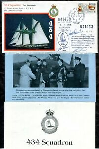 p353 - RCAF 434 The Bluenose Squadron Flight Cover 1976. Signed by Pilots