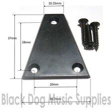 Truss rod cover Plate in black finish inc screws