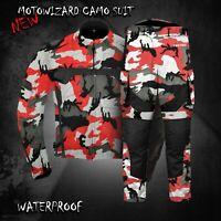 Waterproof Motorbike Camo Jacket Trouser Pant Motorcycle Textile Racing Suit