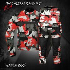 Waterproof Motorbike Camo Jacket Trouser Pant Motorcycle Textile Racing Suit