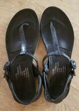 PEDRO GARCIA  Black Leather T Strap Thong Sandal EU 37.5 US 7.5-Spain