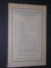 PROCEEDINGS OF THE  ROYAL INSTITUTION OF GREAT BRITAIN. 1945. No.152