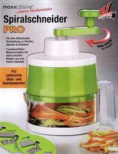 Spiralschneider PRO mit 3 Schneideinsätzen limegreen Gemüsehobel Obsthobel Hobel
