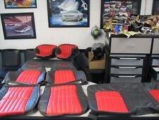 1993 96 SS Camaro seat covers Graphite Gray w/Red & matching door panel inserts!