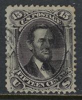 SCOTT 77 1866 15 CENT LINCOLN REGULAR ISSUE PF CERT USED F-VF CAT $120!