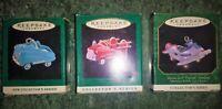 Hallmark Miniature Ornaments Lot of 3 in orig. boxes 1994-96 Kiddie Car Classics