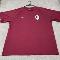 Adidas Indiana Hoosiers NCAA Men's T-Shirt Size XL Red