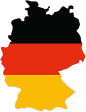 """Adesivo per auto, Sticker """"GERMANIA""""  (11 x 8 cm) taglio contorno"""