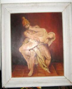 Akt Künstler Bild 1953 KESSING Original 80x68cm Malerei Antique Unikat Kunst