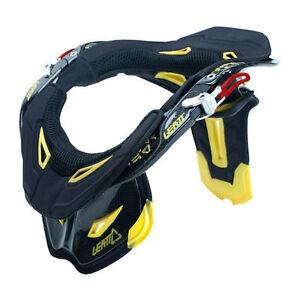 New Leatt GPX Pro Carbon Neck Brace Black Yellow Med 0100230203 +Bag&Padding Kit