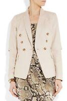 NWT £235 Designer MICHAEL KORS Slit-sleeve Linen Blazer JACKET Hemp XS - XL