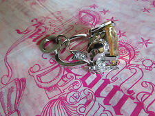 Juicy Couture Key Ring Purse Charm BIG Engagement Ring Heart NEW
