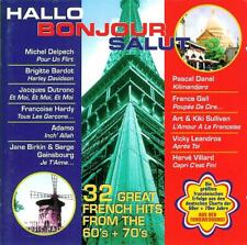 """HALLO BONJOUR SALUT  """" 32 great French hits from the 60's + 70's """" 2 CD"""