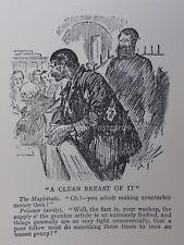Barrister droit perruque & Robe de MAGISTRAT Cour & prisonnier dans le doc antique Cartoon