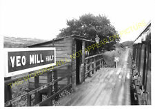Yeo Mill Railway Station Photo. Bishop's Nymton - East Anstey. (3)