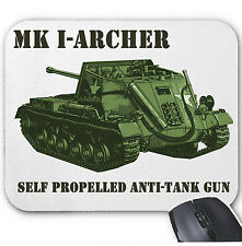 MK I ARCHER SELF PROPELLED ANTI-TANK UK WWII - MOUSE MAT/PAD AMAZING DESIGN