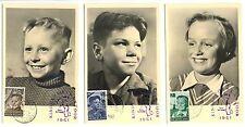 NEDERLAND  1951  MAX KAARTEN =VOOR HET KIND = 1 ST DAG + AUTOPOSTKANTOOR SCHAARS