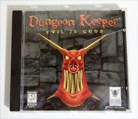 Dungeon Keeper Evil is Good 1997 No Manual (bigbox Version) Jewel Case 762410