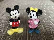 Vintage Disney Mikey And Minnie Mouse Ceramic Figurines Japan/Taiwan