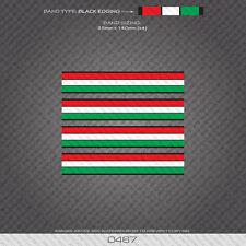 0467 ITALIANO separazione STRISCE BANDE-Bicicletta Decalcomanie Adesivi-bordi oro
