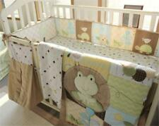 Animal Forest  Cotton Baby  6pcs Crib Cot Bedding Quilt Bumper Sheet Dust Ruffle