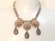 "Beautiful Lia Sophia ""EXOTIC BLOOM"" Statement Bib Style Necklace, 16-19"", NWT"