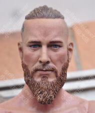 1/6 Head Sculpt Viking Travis Fimmel Vikings For Muscle Body Hot Toys