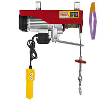 Electric Hoist Electric Winch 1000kg with 20m Wire Rope and Remote Control