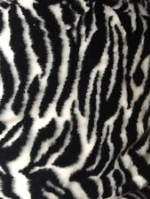 Zebra Faux Fur Fabric Sold By the Yard