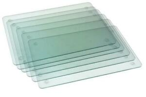 Set of 6 Glass Placemat great for Parties 20x30cm