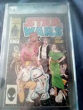 Cgc 9.6 marvel comics Star Wars issue 107 (last issue)