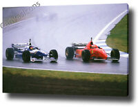 MICHAEL SCHUMACHER CANVAS ART PRINT POSTER PHOTO WALL ART F1 FORMULA 1 1997
