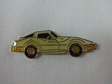 GM Chevrolet Corvette Car White Lapel / Hat Pin Chey