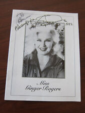 GINGER ROGERS Palm Springs Follies Program Book 1992 AUTOGRAPHED
