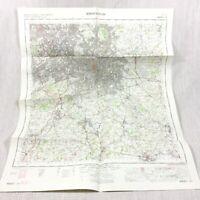 1967 Vintage Military Map of Birmingham Redditch Bromsgrove Sutton Coldfield