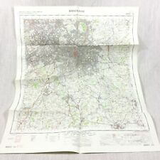 1967 Vintage Military Map of Birmingham Redditch Bromsgrove Sutton Coldfield