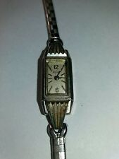Vintage 10k 17J RGP Rolled Gold Bulova Art Deco ladies watch for parts repair