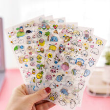 6 Sheets Cute Cartoon Japanese Decorative Stickers DIY PVC Stationery Stickers