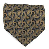 "Giorgio Armani Cravatte Tie 100% Silk Made in Italy Brown Brown Necktie 58"""