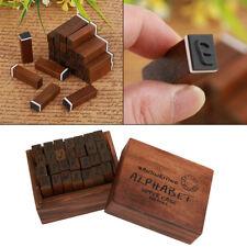 28pcs/set Vintage Handwriting Alphabet Letter Wood Rubber Stamps Wooden Box Gift