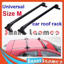 Universal Aluminium Rain Gutter Car Roof Rack Luggage Carrier 2 Cross Bar Size M