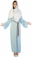 Ladies Virgin Mary Nativity Fancy Dress Costume Christmas Outfit AC461