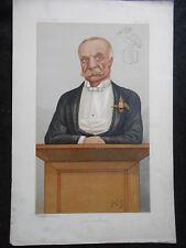 Original Victorian Vanity Fair Print of Mr Bernard John Angle by FGC, 5/4/1890