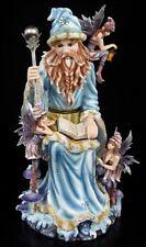 Zauberer Figur mit Elfen - Wonderland Statue Deko Fantasy