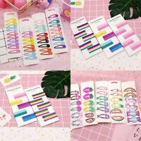10Pcs/Set Cute Candy Color Kid Girl Hairpins BB Snap Hair Clips Hair Accessories