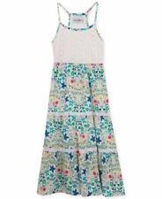RARE EDITIONS® Girls 6X White Lace & Floral Print Maxi Dress NWT $44
