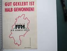 Aufkleber Sticker Radio FFH 2 (M1976)