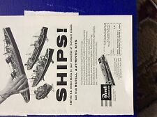 m9-4 ephemera 1958 advert revell ships s s united states kits